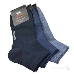 564106669a3 Pánské hladké bavlněné kotníkové ponožky RS - 3 páry Kód zboží  35199