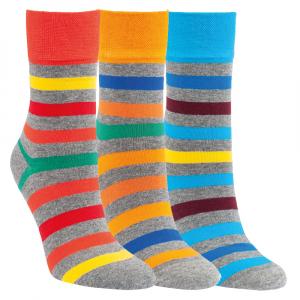 9fa6eb5a249 Dámské zdravotní bavlněné pruhované ponožky RS - 3 páry Kód zboží  1197719