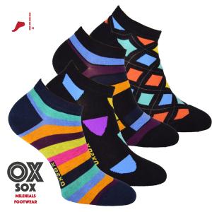 Dámské i pánské barevné sneaker ponožky OXSOX - 4 páry Kód zboží  34119 f784eb8a16