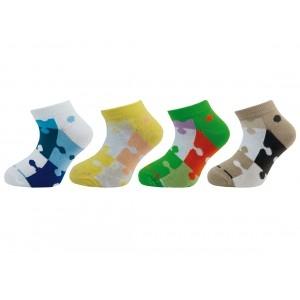 Dětské kotníkové ponožky vzor puzzle 1540 - balení 4 páry empty 699650d807
