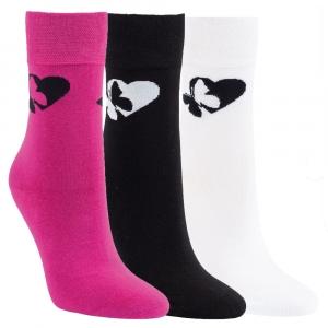 bf08db9ce0c Dámské bavlněné zdravotní ponožky se vzorem RS - 3 páry Kód zboží  1197219  empty