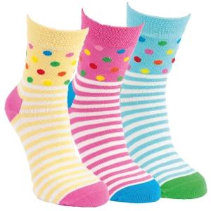 c5ceb8ebaae Dívčí barevné bavlněné puntíkované ponožky RS - 3 páry Kód zboží  2082419  empty